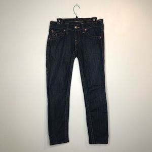 True Religion Dark Wash Skinny Jeans Size 28